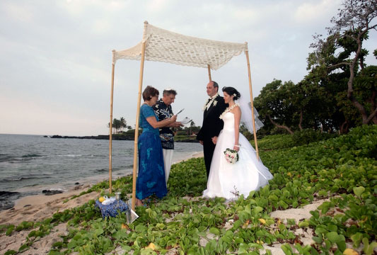 Jewish Wedding under chuppah in Hawaii When you contact us we will write